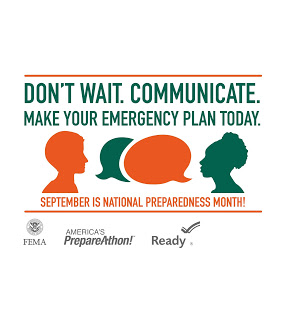 Plan for emergencies during National Preparedness Month