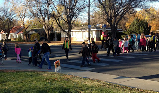 Be aware of students walking to school this month