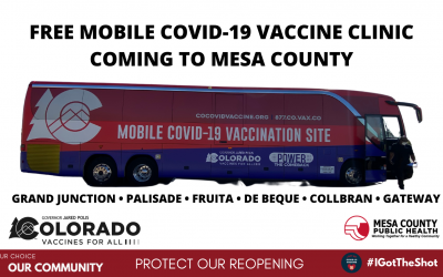 Mobile COVID-19 Vaccination Bus Visits Seven Locations Across Mesa County