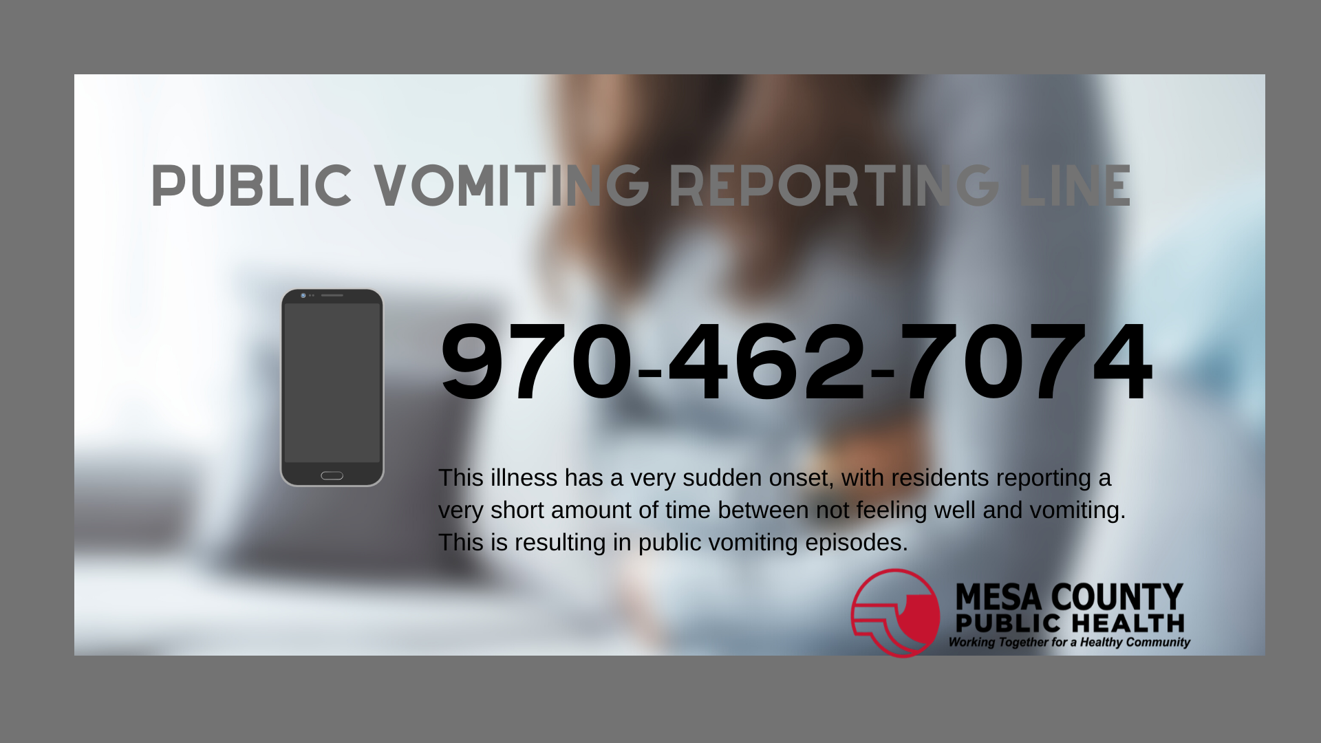 Public Reporting Line Provides Valuable Insight on Illness in Mesa County