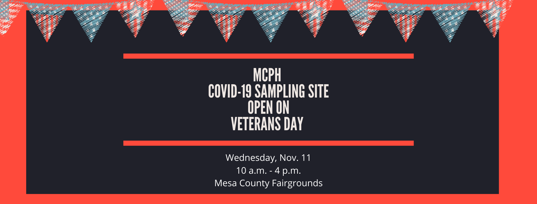 COVID-19 Community Sampling Site Open on Veterans Day