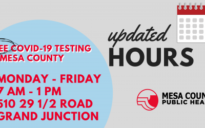 Community COVID-19 Testing Site Hours Change