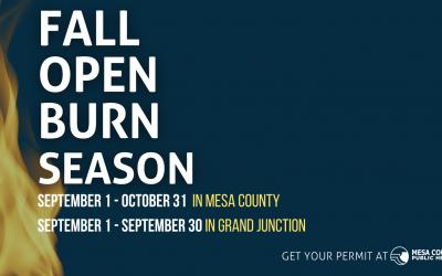 Fall Open Burn Season begins September 1