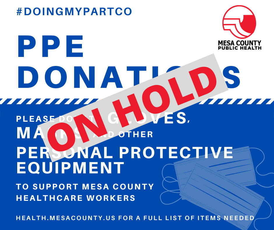 ON HOLD: Donations Accepted for Personal Protective Equipment (PPE)