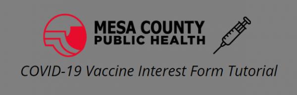 MCPH COVID-19 Vaccine Interest Form Tutorial
