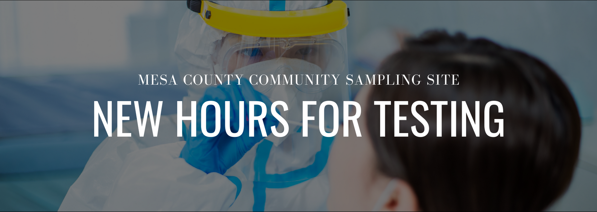 FREE COVID-19 Community Testing Site Announces Winter Hours